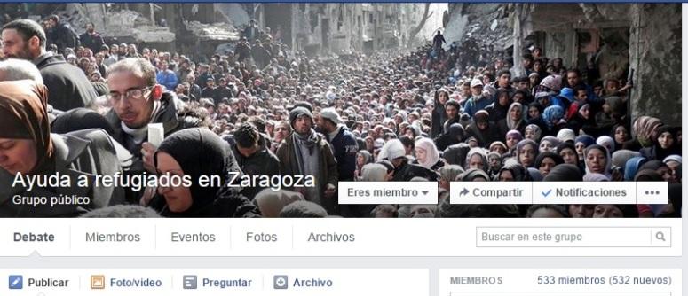ayuda a refugiados en zaragoza
